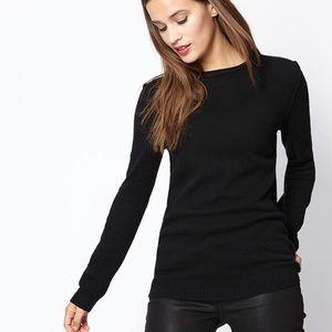 Cuyana   Wool Cashmere Black Crewneck Sweater